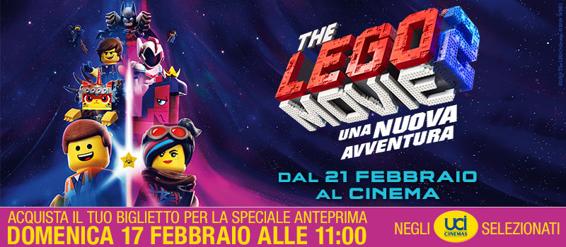 Vieni all'Anteprima di The Lego Movie 2!