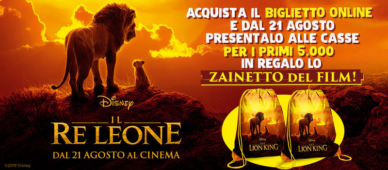 CON IL RE LEONE IN REGALO LO ZAINETTO!