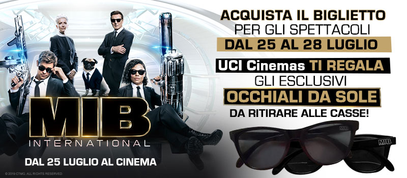Occhiali in regalo con il biglietto di Men in Black International!
