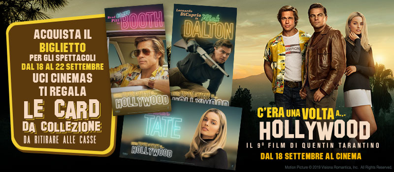Con C'era una volta a... Hollywood in regalo le cards da collezione!