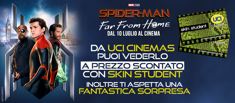 Spider-man: Far From Home a prezzo scontato con Skin Student.