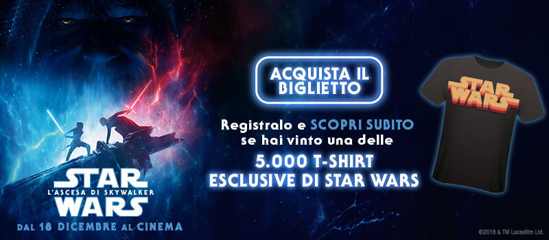 5.000 T-Shirt in palio con Star Wars: L'ascesa di Skywalker