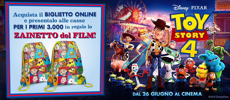 Con Toy Story 4 in regalo lo zainetto!